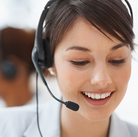 Stock Image of a Customer Service Representative